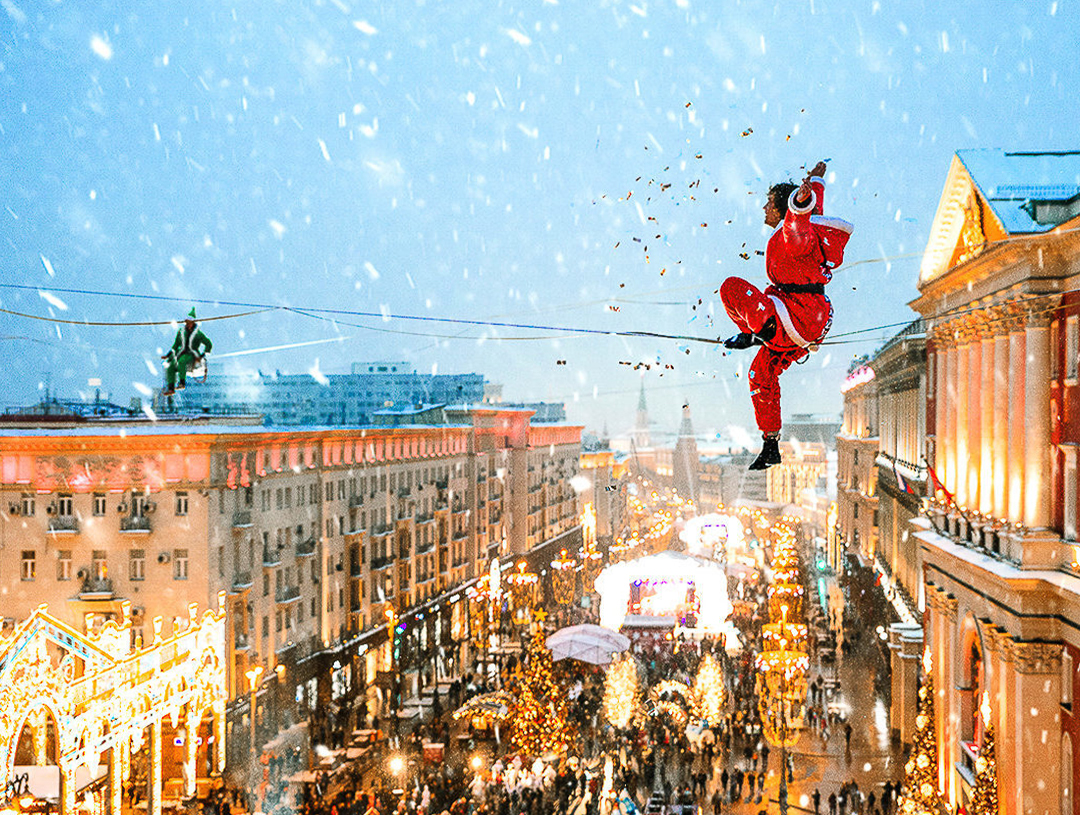 モスクワでのクリスマス旅行